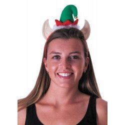 Serre-tête bonnet lutin de Noël Accessoires de fête 333175