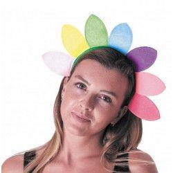 Serre-tête hippie flower power Accessoires de fête 333181