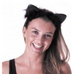 Accessoires de fête, Serre tête chat noir adulte, 333185, 2,50€
