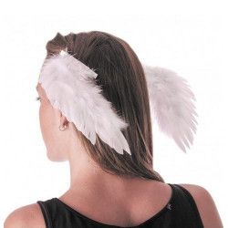 Ailes d'ange blanches sur clips Accessoires de fête 333204