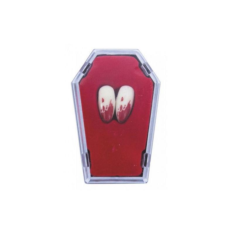 Canines de vampire ensanglantées dans cercueil Accessoires de fête 33322