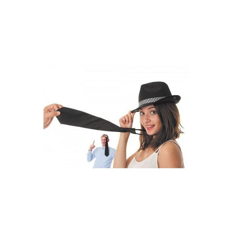 Cravate satin noir Accessoires de fête 3336