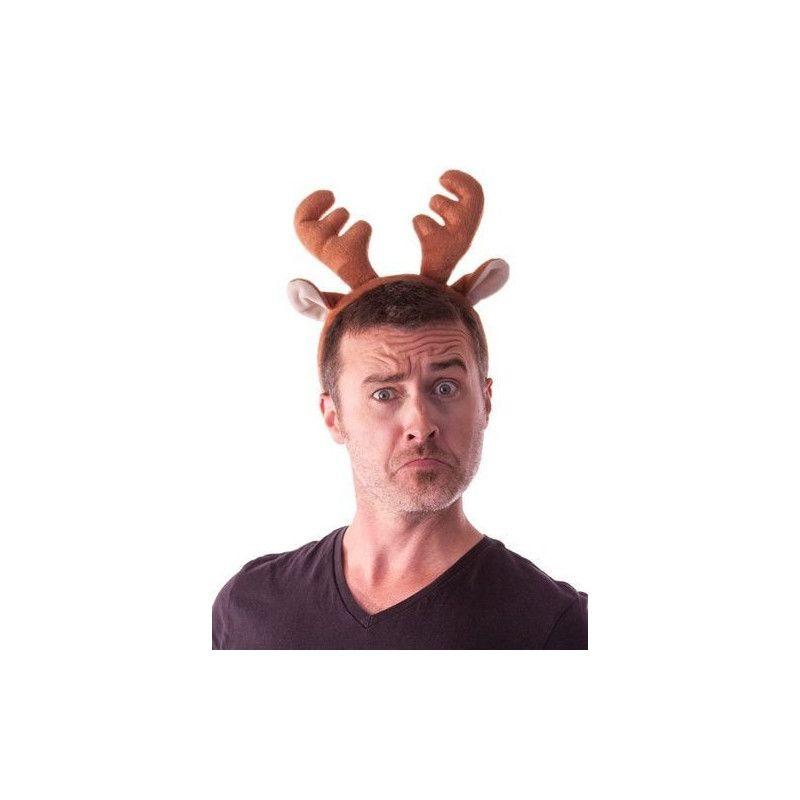 Serre tête renne velours Accessoires de fête 33362