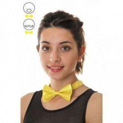Noeud papillon jaune fluo Accessoires de fête 3338