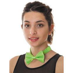 Noeud papillon vert fluo Accessoires de fête 3339