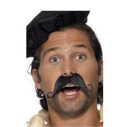 Moustache noire à la française Accessoires de fête 33403