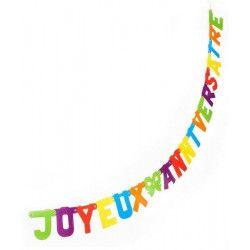 Guirlande joyeux anniversaire 2 mètres Déco festive 33567-172927