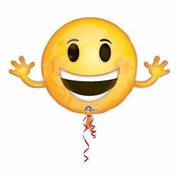 Ballon aluminium géant Emoticone bras écartés 99 cm Déco festive 3363101