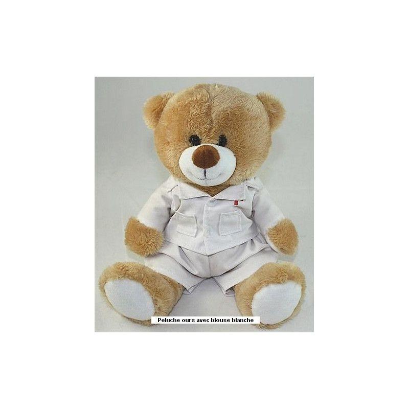 Peluche ours infirmier 20 cm Jouets et articles kermesse 3366