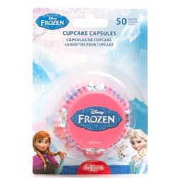 Caissettes à cupcakes La Reine des Neiges™ x 50 Déco festive 339236