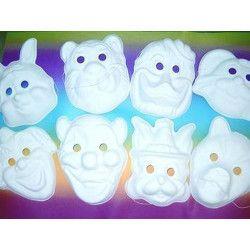 Masque carnaval à peindre Jouets et kermesse 340005