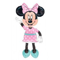 Ballon aluminium marcheur rose Minnie Mouse™ Déco festive 3433101