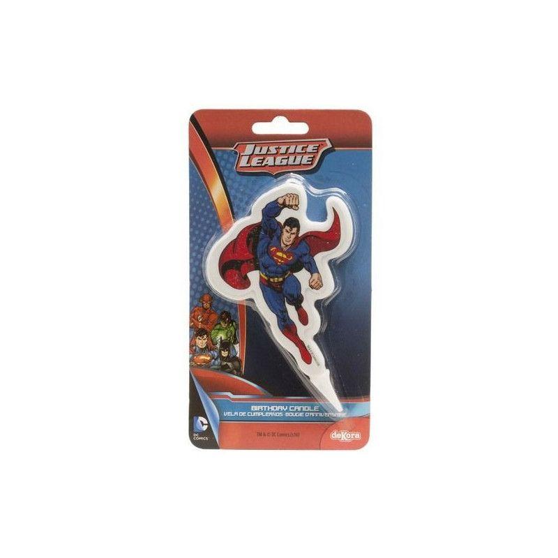 Bougie anniversaire Superman™ Déco festive 346134