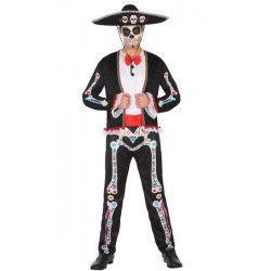 Déguisement squelette mexicain homme taille M-L Déguisements 34730