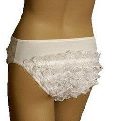 Culotte blanche à froufrous femme 42-44 Accessoires de fête 3525082005