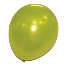Déco festive, Ballons verts pomme nacrés x 50, 36237, 7,90€