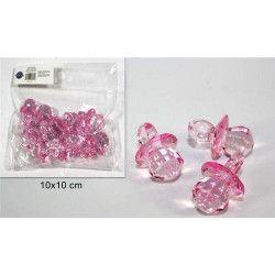 Tétine cristal rose baby shower x 10 Déco festive 36396