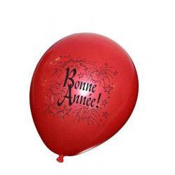 Sachet de 8 ballons Bonne Année Déco festive 36433