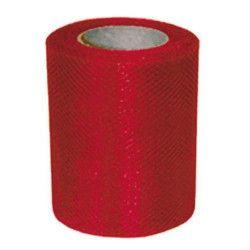 Rouleau de tulle rouge 20 m Déco festive 36600RGZ