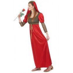 Déguisement médiéval rouge femme taille M Déguisements 36647-89824