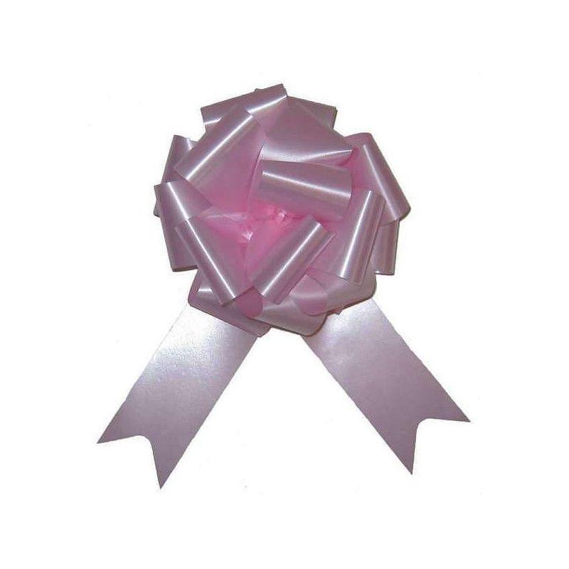 Sachet 4 noeuds à tirer 5 cm rose Déco festive 36700ROZ