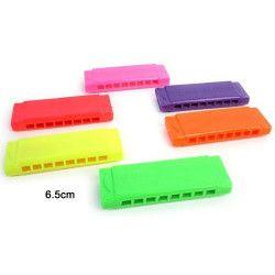 Harmonica 6.5 cm 6 coloris vendu par 48 Jouets et articles kermesse 36709-LOT