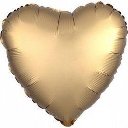Ballon métallisé coeur satin or 43 cm Déco festive 3680301