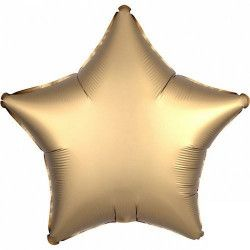 Ballon métallisé étoile satin or 43 cm Déco festive 3680401