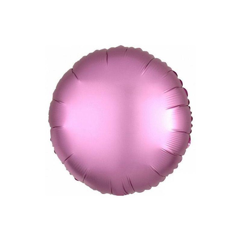 Ballon métallisé rond satin rose flamingo 43 cm Déco festive 3682101