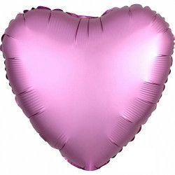Ballon métallisé coeur satin rose flamingo 43 cm Déco festive 3682201
