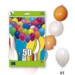 Déco festive, Ballons guirlandes blancs opaques x 50, 36GP5-01, 11,50€