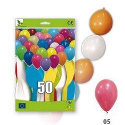 Déco festive, Ballons guirlandes rouges opaques x 50, 36GP5-05, 11,50€