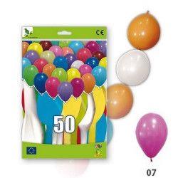 Ballons guirlandes fuchsiia opaques x 50 Déco festive 36GP5-07