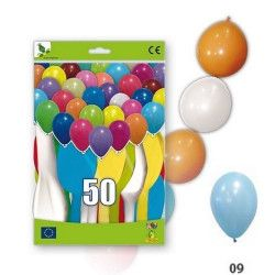 Déco festive, Ballons guirlandes bleu ciel opaques x 50, 36GP5-09, 11,50€