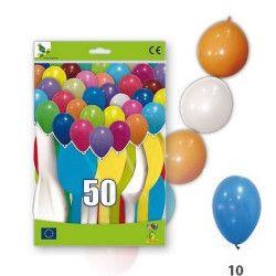 Ballons guirlandes bleus opaques x 50 Déco festive 36GP5-10