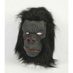 Masque de gorille noir en latex Accessoires de fête 371028