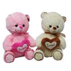 Peluche ours avec coeur 40 cm Jouets et articles kermesse 3773