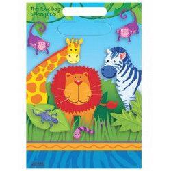 Sachets anniversaire Animaux de la Jungle x 8 Déco festive 379148