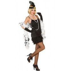 Déguisements, Déguisement charleston noir femme taille M-L, 38626, 25,90€