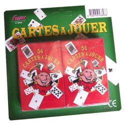 Jouets et kermesse, Blister 2 Jeux de 54 cartes, 38968, 1,00€