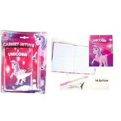 Carnet intime licorne papeterie kermesse Jouets et kermesse 39113-