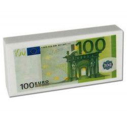 Gomme billet euro papeterie vendu par 24 Jouets et articles kermesse 39120-LOT