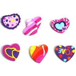 Gomme forme coeur papeterie kermesse vendu par 24 Jouets et kermesse 39205-LOT