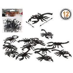 Sachet 12 scorpions noirs halloween Déco festive 39534