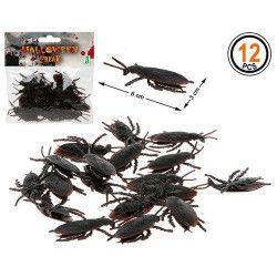 Sachet 12 cafards noirs halloween Déco festive 39536
