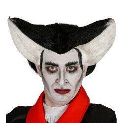 Perruque vampire noire et blanche Accessoires de fête 4012