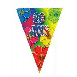 Guirlande anniversaire 20 ans Déco festive 40133805