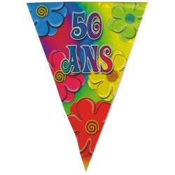 Guirlande joyeux anniversaire 50 ans Déco festive 40133808
