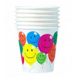 Gobelets jetables Smile x 6 Déco festive 401784