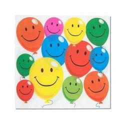 Déco festive, Serviettes papier x 12 Smile, 401786, 1,30€